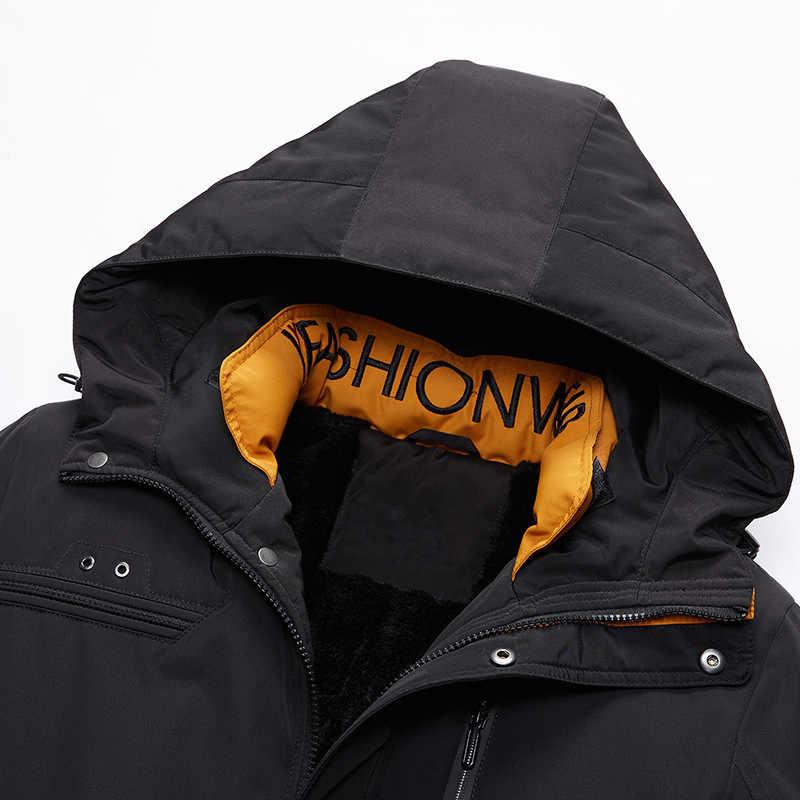 العلامة التجارية جواكت شتوية للرجال سترة واقية سميكة معطف دافئ الرجال الأزياء مقنعين كبيرة الفتيان سترة سترة chaqueta هومبر invierno