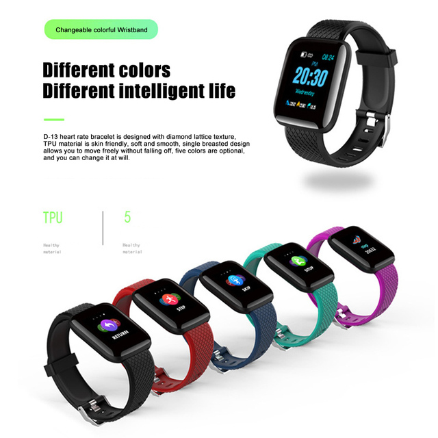 New Arrival Color Screen Smart Bracelet Fitness Sports Health Monitoring Sports Bracelet Watch
