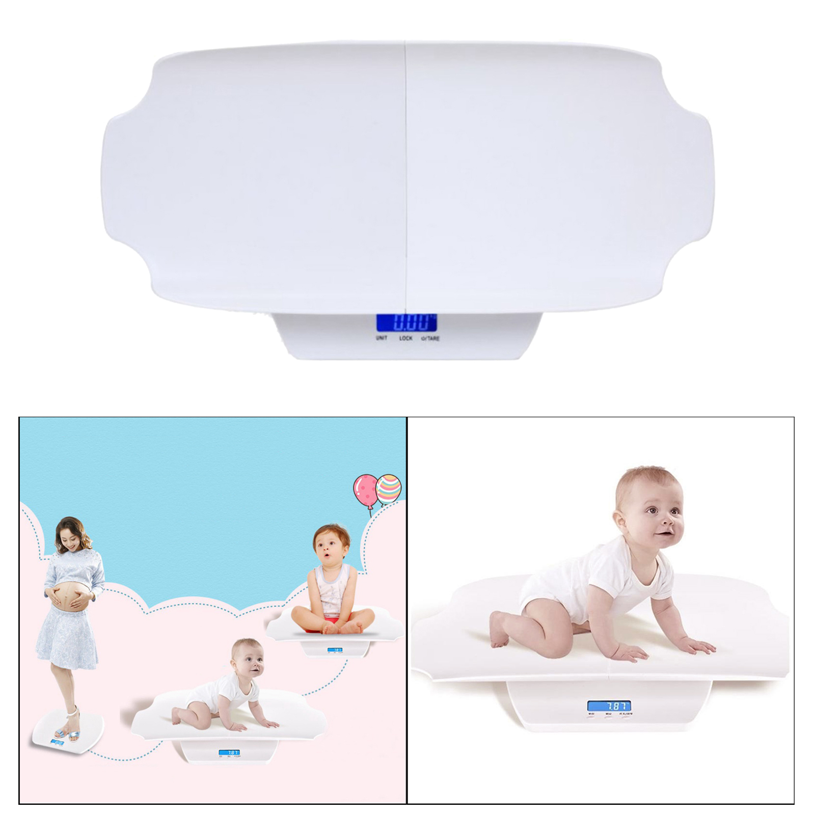 Baby Scale, Pet Scale for Infant, Newborn/Puppy, Cat Animals LCD Display, Highly Accurate, Hold Function