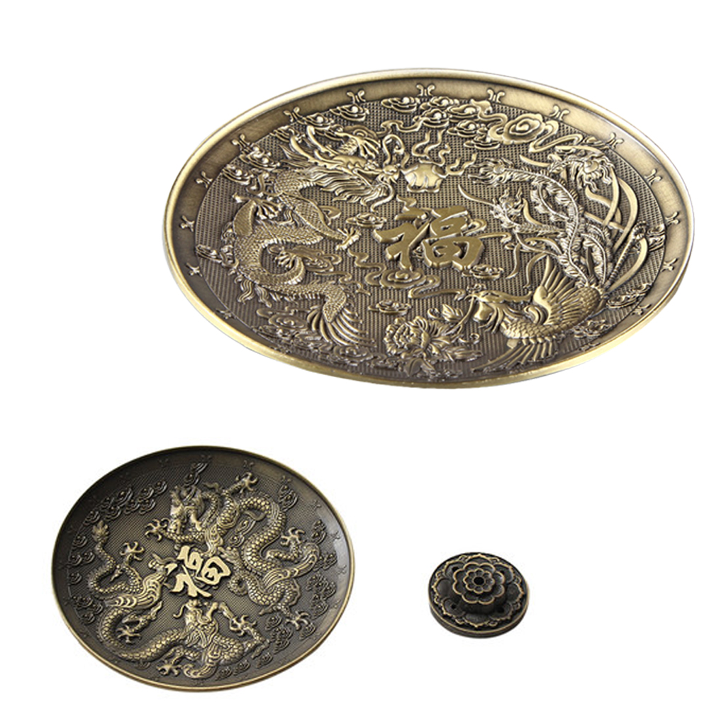 12 Chinese Zodiac Incense Plate w/ holder