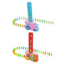 Электрический домино блоки Набор игрушек Поезд игры с светильник