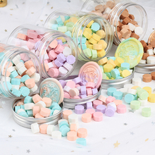 100pcs Vintage Octagonal Mixing Color Sealing Wax Beads for DIY Crafts Envelope Wedding Postcard Wax Seal Stamp Tablet Pill