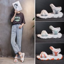 2020 summer new thick bottom increased color matching sandals female fashion wild sports casual sandals Z934 sandals female 2020 summer new fashion wild sports casual sandals increased thick bottom muffin sandals z922