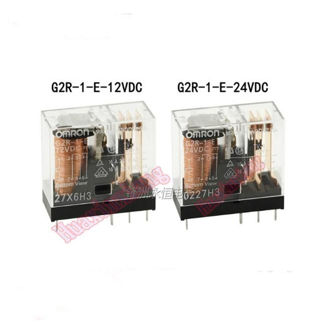 10PCS/Lot Power Relay G2R 1 E 12V 24V 16A 8PIN G2R 1 E 12VDC G2R 1 E 24VDC