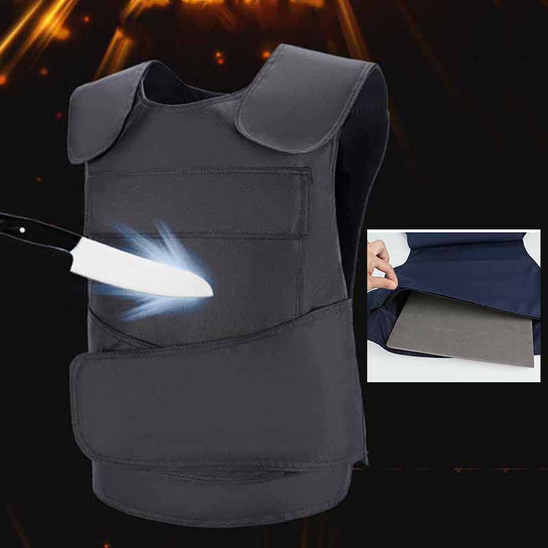 Unisex Adjustable Breathable Shockproof Security Vests Plate Tactical Anti-Cut Clothing Outdoor Self-defense Supplies