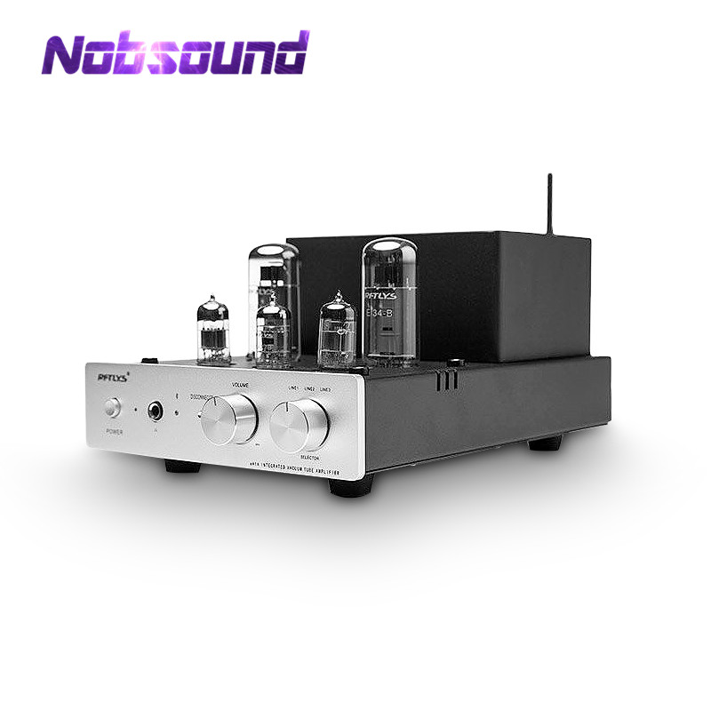 Nobsound Class AB Push-Pull EL34 Vacuum Tube Amplifier Bluetooth 4.0 Stereo Headphone Amp image