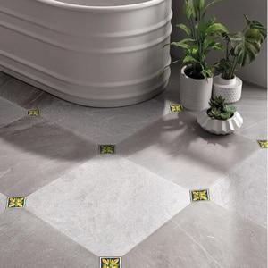 Image 5 - 10 ピース/ロット pvc 防水タイル斜めステッカー 12X12cm 自己粘着壁タイルデカール家具浴室 3D 床の装飾ステッカー