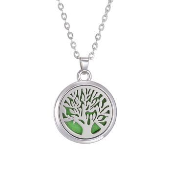 New Aromatherapy Necklace Diffuser Jewelry Tree Flower Lover Aroma Perfume Essential Oil Diffuser Necklace Box Locket Necklaces - 4