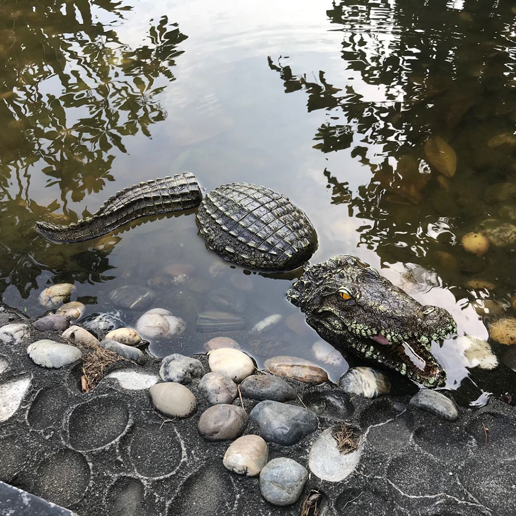 Floating Crocodile Head Water Decoy Garden Pond Art Decor For Gooses Predator Heron Duck Control Garden Decoration Home Decor