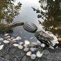 Flutuante cabeça de crocodilo água chamariz jardim lagoa arte decoração para gooses predador heron duck controle decoração do jardim casa