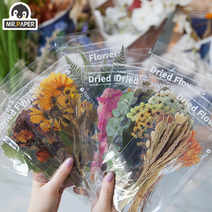 Mr.paper 8 Designs 6Pcs Weekend Flowers Deco Stickers Scrapbooking Styling Bullet Journal Toy Deco Album DIY Stationery Stickers