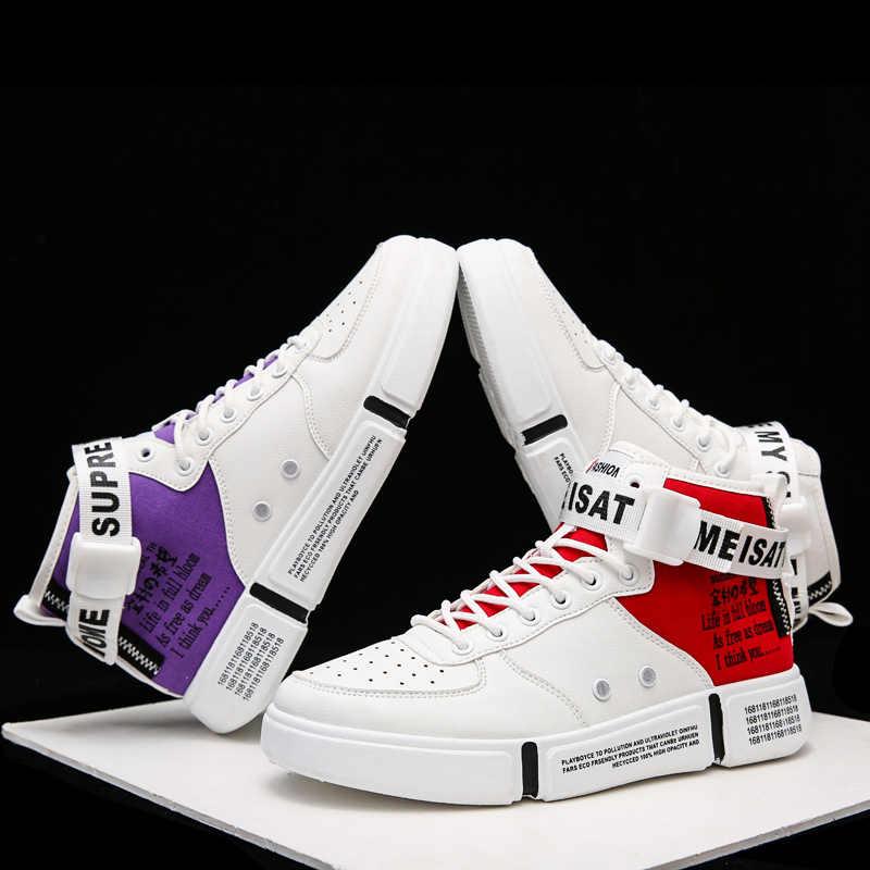 Nausk Giày Nam Giày Cực Tăng Cường Size Lớn 39-46 Justin Bieber Nam Giày Siêu Sao Hip Hop Giày Nam cao Hàng Đầu Giày Casual