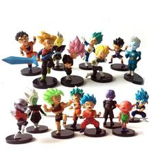 16 Stuks Dragon Ball Super Action Figure Dragon Ball Pvc Anime Model Nendoroid Naruto Beeldjes Figuras Dragon Ball(China)