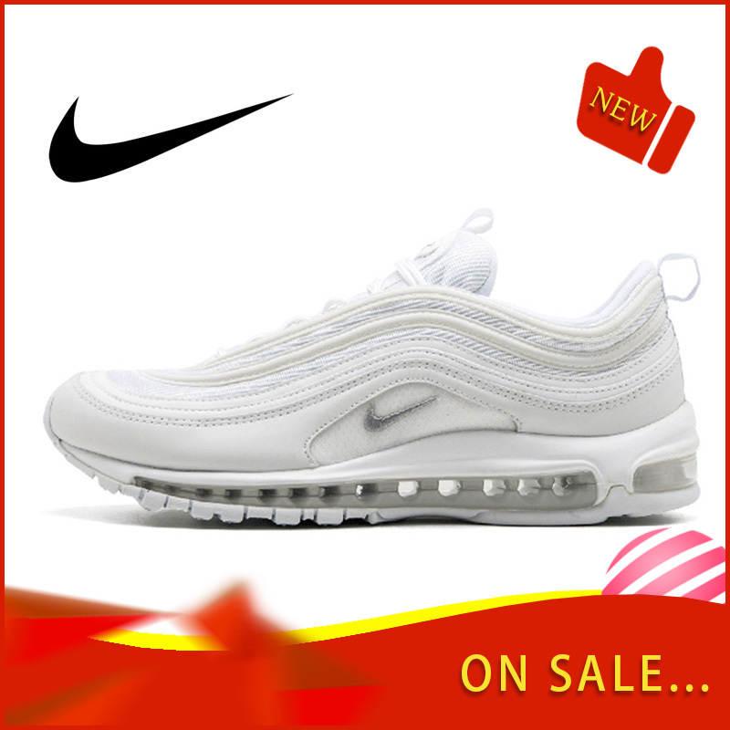Original Authentic Nike Air Max 97 LX Men's Running Shoes Fashion Outdoor Sports Shoes Breathable Comfort 2019 New 921826-101 image