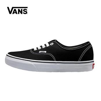 Vans Authentic Black White Shoes Original Vans Shoes Men Women Sneakers Unisex Skateboarding Shoes VN-0EE3BLK vans authentic grey canvas mens trainers