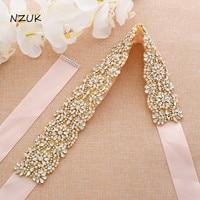 Rose Gold Rhinestones Bridal Dress Belt Pearls Wedding Belt Crystal Bridal Sash For Wedding Dresses ZZY202G