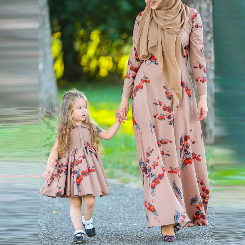 Pink Girls Abaya Enfant Dubai Hijab Muslim Dress For Women Kids Saudi Turkish Islamic Clothing Kaftans Caftan Robe Islam Kleding