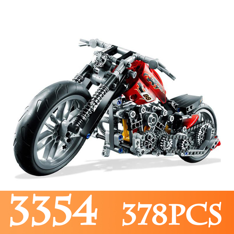 Finger Rock 3354 378PCS Racing Motorcycle Model Building Kits Compatible LegoINGLYs Bricks Speed Motorcycle Toys For Boy