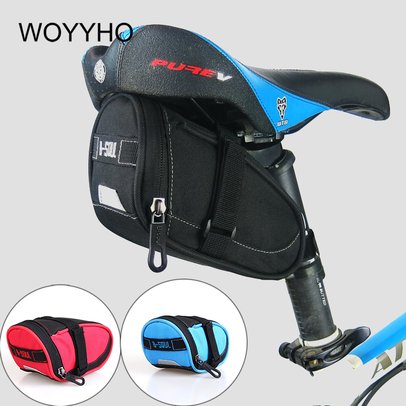 Bike Bicycle Waterproof Storage Saddle Outdoor Bag Seat Cycling Tail Rear Pouch