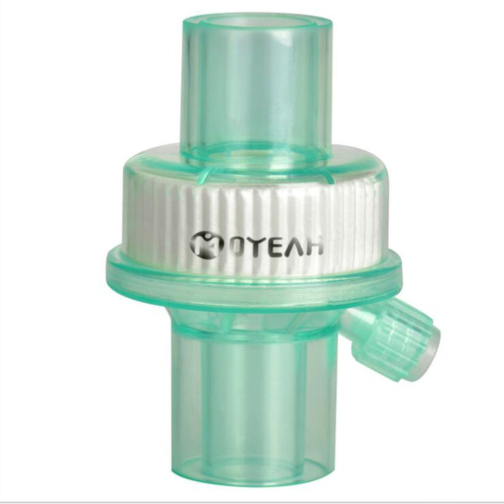 Disposable Bacteria Filter Ventilator Filter And Moisten Respiratory Gas Reduce Infection Prevent Harmful Bacteria 1 Pcs