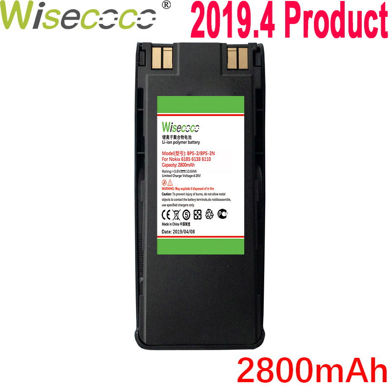 WISECOCO 2800mAh BPS-2 BPS-2N Battery For <font><b>NOKIA</b></font> 6310I <font><b>6310</b></font> 6210 6160 7110 6150 5185 6185 6138 5180 5170 5160 5150 5125 6110 image