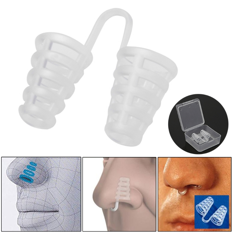 1Pc Anti Snore Nasal Dilator Stop Snoring Cones Breathe Easy NOSE Congestion Aid Q0KD