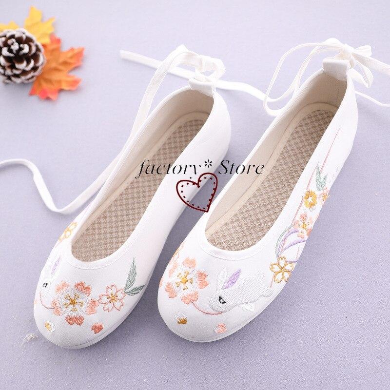 Купить древний стиль; китайская одежда; обувь для танцев; на плоской