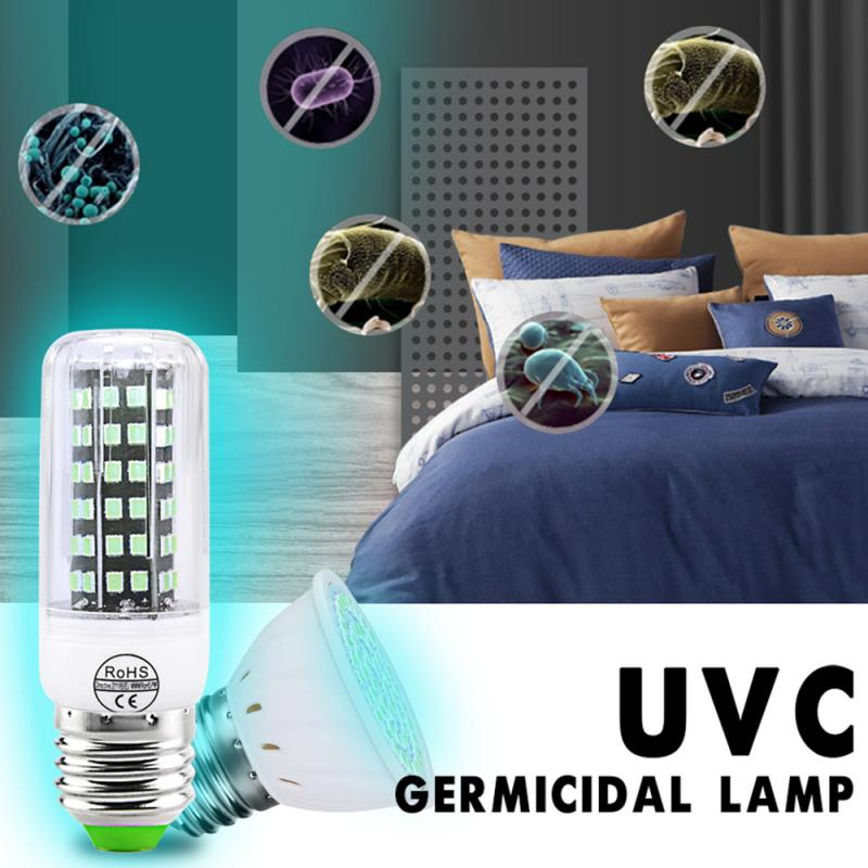 UVC Germicidal Corn Disinfection Lamp Portable Radiation-free Healthy Safe Home Ultraviolet Ozone Disinfection Lamp 110V/220V