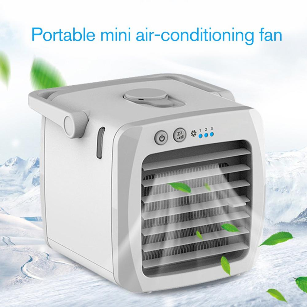 Home Mini Air Conditioner Portable Air Cooler Arctic Air Desktop USB Space Cooler Fan Humidifier Purifier Rechargeable Fan