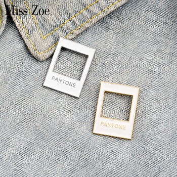 Color Card Enamel Pin Custom Simple White Brooches Designers Badge for Bag Lapel Pins Buckle Jewelry Gift for Kids Friends image