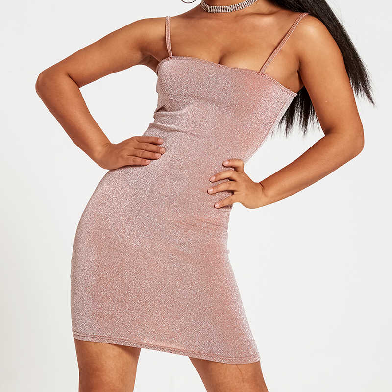 Chrleisureชุดไนท์คลับเซ็กซี่ฤดูร้อนSlim Women 'S Miniชุดกระชับสายคล้องไหล่บางผู้หญิงสั้นชุด