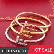 Pulseira de aço de titânio para mulheres moda pulseiras femininas populares amantes acessórios presente