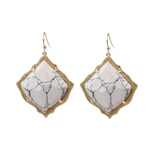 2020 Hot Selling Kite Shape Marble Stone Inaly Drop Earrings Women Jewelry Abalone Inaly Cooper Dangle Earrings 2020 hot selling kite shape marble stone inaly drop earrings women jewelry abalone inaly cooper dangle earrings