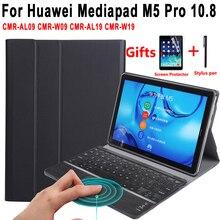 Case for Huawei Mediapad M5 10 Pro 10.8 CMR-AL09 CMR-W09 CMR-AL19 CMR-W19 Touchpad Keyboard Detachable Trackpad Leather Cover