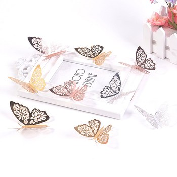 12PCS/Set 3D Wall Stickers Butterfly Wall Stickers Hollow Butterfly For Kids Rooms Home Wall Decor Fridge Stickers Decoration