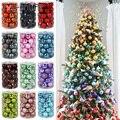 Набор рождественских шариков 34 шт., 4 см, Рождественское украшение, Рождественская елка, украшение, шар, рождественская подвеска, Рождествен...
