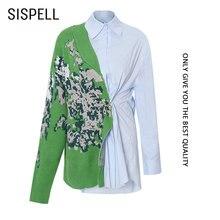 Женская блузка в стиле пэчворк sispell Повседневная Свободная