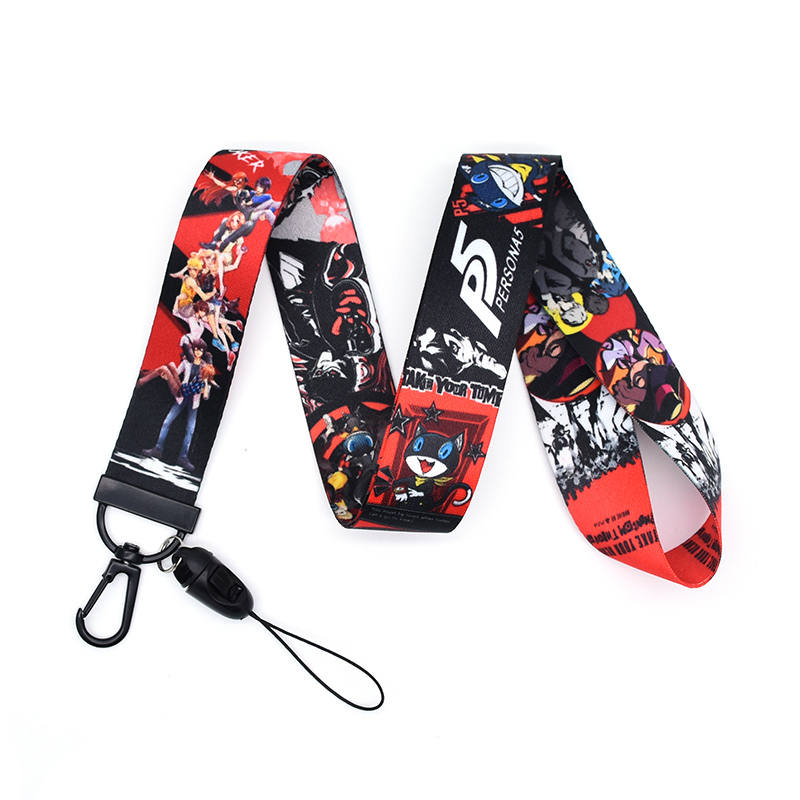 30pcs/lot PERSONA Lanyard Watercolor Printing Lanyards Phone Case RPG Game Lanyard for Keys Badge Holders Keychain A251 image