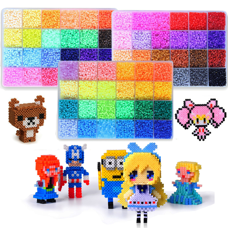 NEW 72 colors 39000pcs Perler Toy Kit 5mm 2.6mm Hama beads 3D Puzzle DIY Toy Kids Creative Handmade Craft Toy Gift