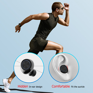Image 4 - GOOJODOQ עמיד למים TWS 5.0 מיני אלחוטי אוזניות מגע בקרת Bluetooth אוזניות Bluetooth אוזניות עם מיקרופון כפול