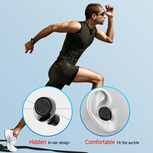 Image 4 - GOOJODOQ wodoodporny TWS 5.0 Mini słuchawki bezprzewodowe sterowanie dotykowe słuchawki Bluetooth słuchawki Bluetooth z podwójny mikrofon