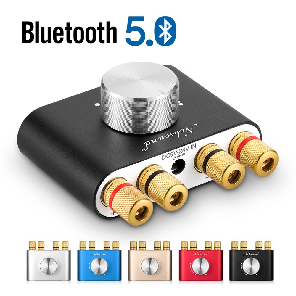 Nobsound Mini Bluetooth 5.0 HiFi TPA3116 Digital Amplifier Stereo Audio 2.0 Channel Sound Amplifiers 100W Power Amp