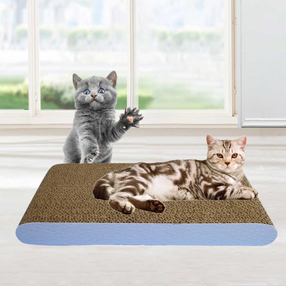 애완 동물 고양이 장난감 고양이 스크래치 보드 패드 긁적 게시물 새끼 고양이 골판지 종이 패드 고양이 그라인딩 네일 스크레이퍼 매트 매트리스