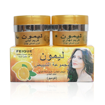Feique lemon skin lightening cream day and night cream whitening cream for face papaya whitening day and night cream anti freckle face cream improve dark skin refreshing face skin