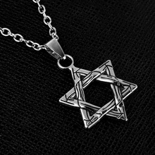 New Fashion David Star Hexagon Star Pendant Silver Declaration Necklace Jewelry Gift Chain Necklace Men and Women necklaces for women judaism menorah star of david pendant necklace 39x32mm silver plated color fashion jewelry