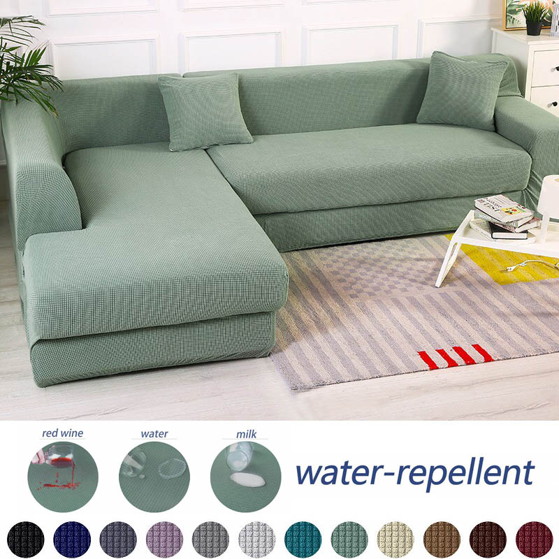 Waterproof Sofa Cover Universal Waterproof Couch Covers Solid Color Elastic Slipcover Non-slip Full Wrap Sofa Seat Covering