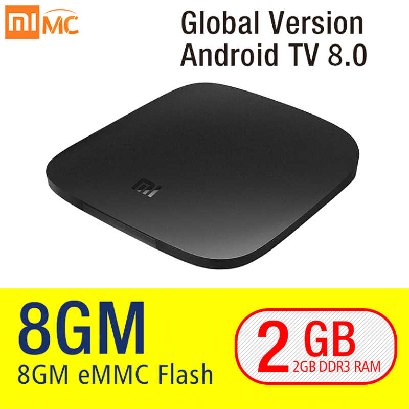 Original Xiao mi mi TV Box 3 Smart 4K Ultra HD 2G 8G Android 8.0 film WiFi Google Cast Netflix Red Bull lecteur multimédia décodeur