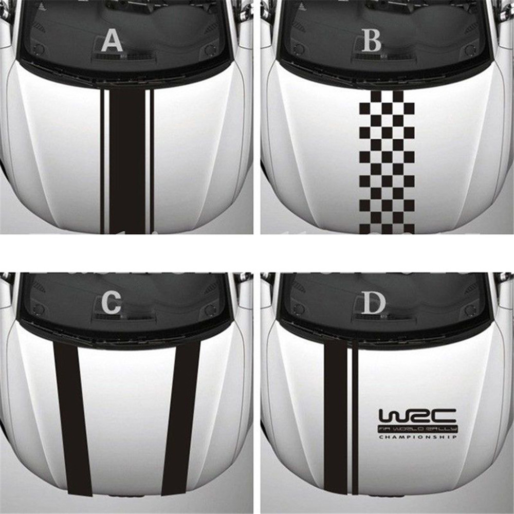 Customization WRC Stripe Car Covers Vinyl Racing Sports Decal Head Car Sticker For Ford Focus Cruze Renault Accessories