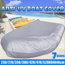 Cubierta impermeable para bote de S 4XL, resistente al agua, resistente al polvo, para Anti UV, nieve helada, bote inflable, Pontón, pesca, Kayak, cubierta solar