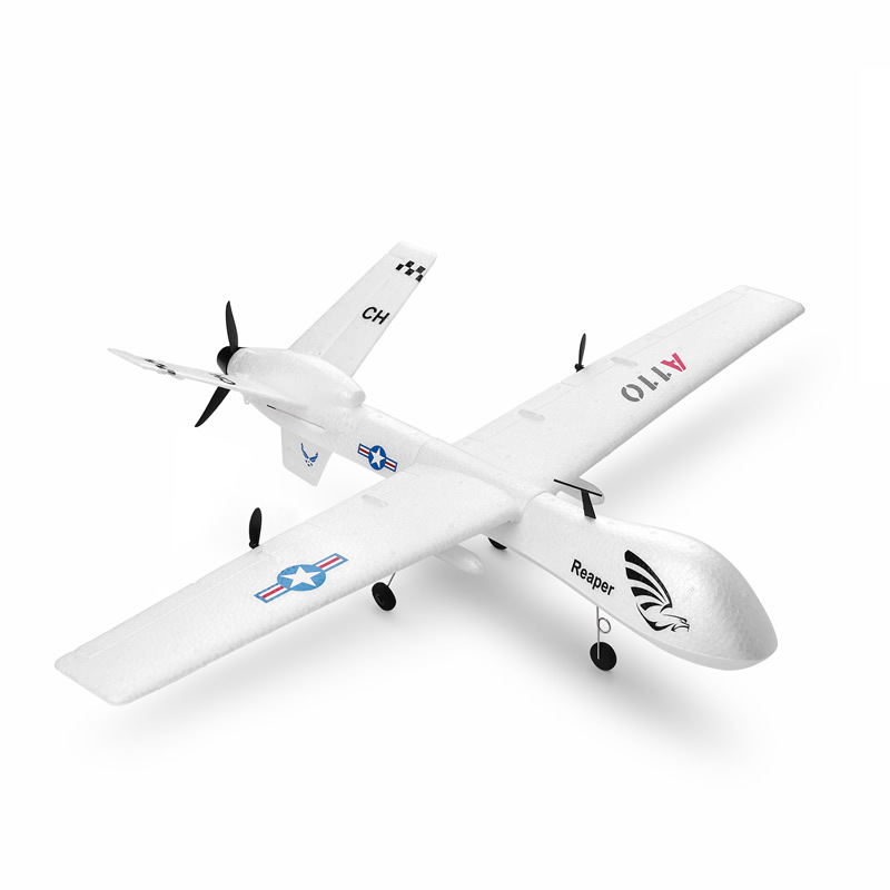 Weili XK A110-Predator MQ-9 Three-Channel Fixed-Wing Remote Control Glider DIY Assembled Airplane Model Toy